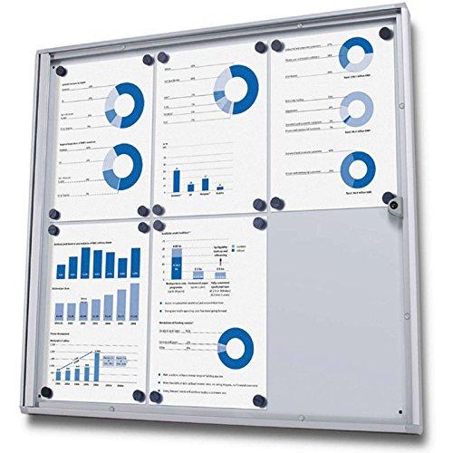 kaufdeinschild 6 x A4 (660 x 615mm) Schaukasten Plakatschaukasten abschließbar Infokasten mit Acrylscheibe