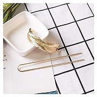 ヘアピン 1ピースの新しい韓国のファッションヘアアクセサリーシンプルな楕円形の中空の木の葉のヘアピンの髪の気質ファッション金属のヘアピン (Color : 4)