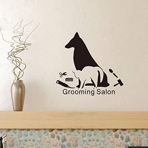 Muursticker salon decoratie muursticker vinyl decoratieve stickers huisdier winkel muur papier huisdecoratie 44 * 46 cm