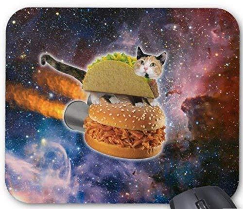 Taco cat & rocket hamburger im universum mouse pad computerzubehör, Gaming mouse mat