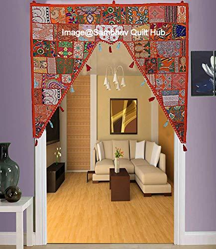 Decoración étnica de algodón para decoración del hogar, estilo vintage, cenefas indias, cenefas...