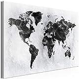decomonkey | Mega XXXL Bilder Weltkarte | Wandbild Leinwand 170x85 cm Selbstmontage DIY Einteiliger XXL Kunstdruck zum aufhängen | Landkarte Welt