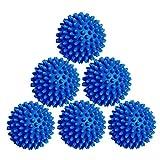 Laundry Dryer Balls - 6 Pack Reusable Fabric Softener Alternative (Blue)