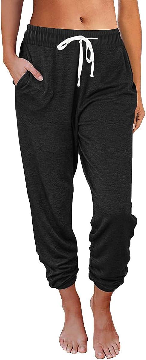 AUTOMET Womens Sweatpants Drawstring Comfy Pajamas Sale special price Lounge El Paso Mall Pants