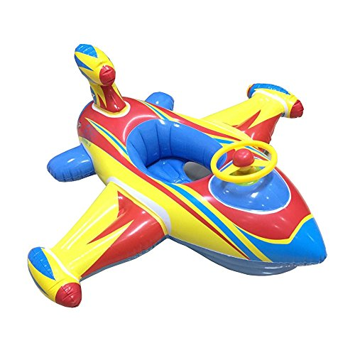 Topwon Inflatable Airplane Baby Kids Toddler Infant Swimming Float Seat Boat Pool Ring Age 1-4...