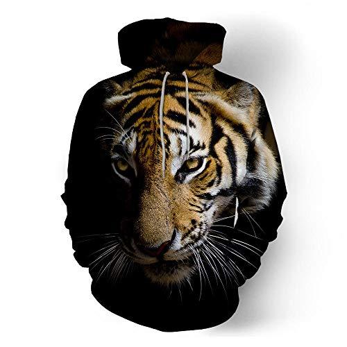 ASDFSADF Frühling und Herbst Schöne Tier 3D-Druck Wolf Tiger Übergroßer Hoodie Harajuku Street Hip Hop Hooded Sweatshirts Tops-style6._Asiatische Größe M.