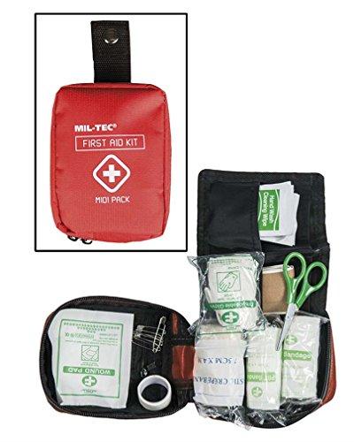 TROUSSE DE SECOURS / FIRST AID PACK ROUGE 18 ACCESSOIRES MIL-TEC 16025910 AIRSOFT RANDONNEE BALLADE
