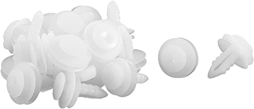 uxcell a15072900ux0232 20 Pcs White Plastic Push-Type Door Trim Mat Clips, Pack