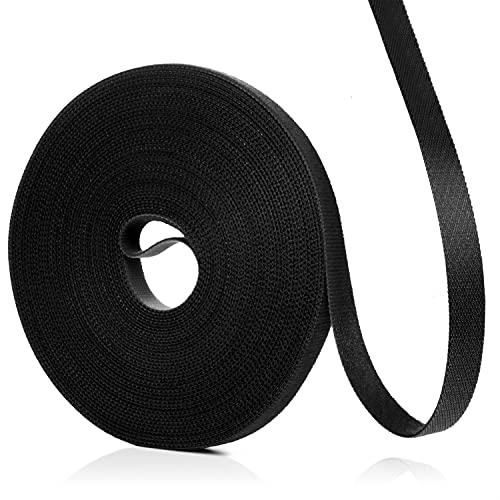 lampox - Bridas de velcro - Rollo de cinta de velcro para...