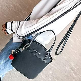Fashion Single-Shoulder Bags Leisure Fashion PU Leather Slant Shoulder Bag Handbag (Black) (Color : Black)