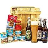 Geschenkset München Großer Bayern Geschenkkorb mit Bier, Bierglas und bayrischen Spezialitäten