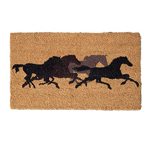 "LL Home Coir Horses, Forward"" Door Mat"