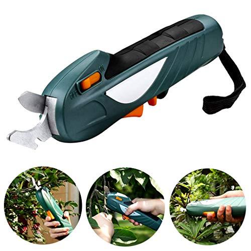 AMINSHAP draagbare elektrische snoeischaar, 7.2V oplaadbare takkenschaar tuin elektrisch schaargereedschap (0-16 millimeter) snijden 600 times, mini tak verspaningsgereedschap, groen