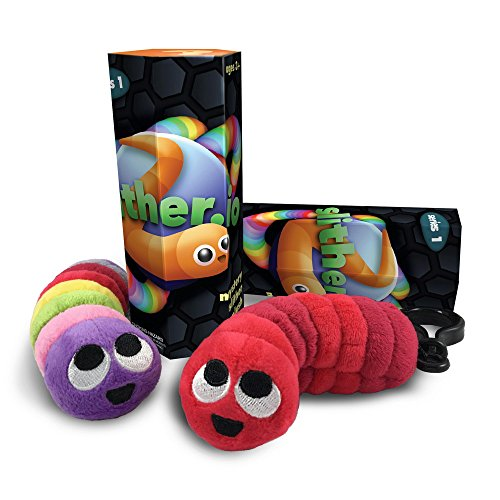 Slither.io Series 1 Mystery Box Plush Clip-on Keychain Toys (Set of 2)