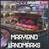 Maryland Landmarks Calendar 2022: Official Maryland Calendar 2022, 18 Month Photo of Maryland Travel calendar 2022, Mini Calendar