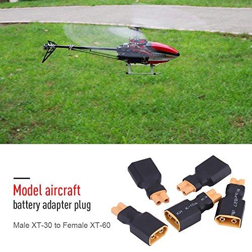 5 Pcs RC Drone Adapter Stecker, XT30 zu XT60 Batterie Konverter Stecker(XT30 Buchse auf XT60 Stecker)