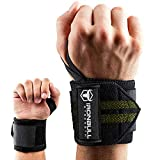 "Wrist Wraps (18"" Premium Quality) for Powerlifting, Bodybuilding, Weight Lifting - Wrist Support"
