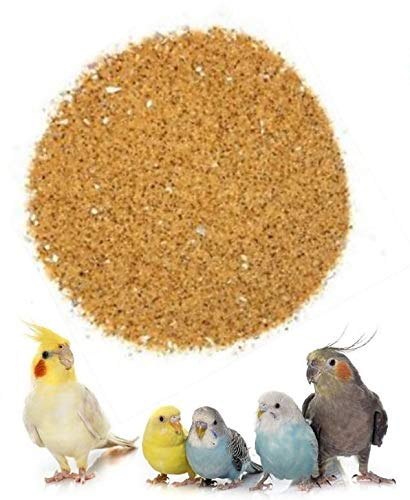Caged Bird Sand with Oyster Shell Supplement & Mineral Budgies Canaries Parrots (Trial Bag 100g)