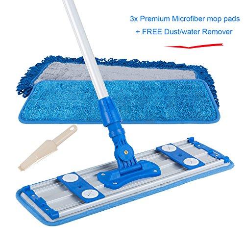 ALLZONE Professional Microfiber Mop for Hardwood Laminate Floor, Adjustable Aluminum Handle,...