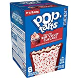 Pop-Tarts Breakfast Toaster Pastries, Frosted Red Velvet Cupcake, Bakery Inspired Snack Food, 13.5oz Box (Pack of 12)