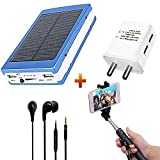 probeatz Combo of 20000mAh Powerbank with Charger, Selfie Stick and Headphones (Multicolour)