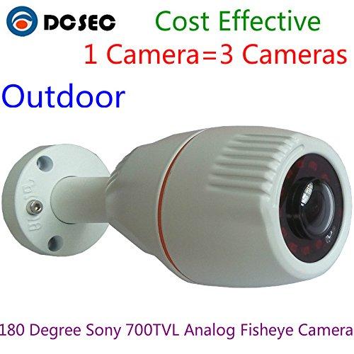180 Grados Gran Angular Ojo de pez al Aire última intervensión Mini Bullet cámara de Seguridad Analog 700TVL IR BNC Fuera Yard