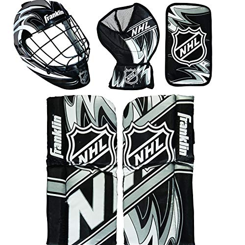 Franklin Sports NHL Mini Hockey Torwart Ausrüstung & Maske Set, Blau
