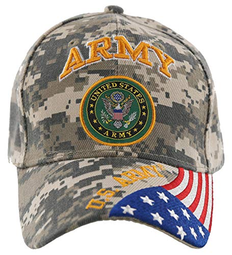 United States Army CAMO Baseball Style Embroidered HAT Flag us USA Cap