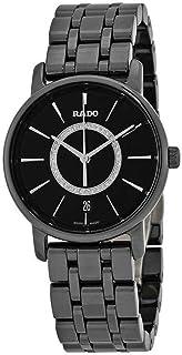 Rado - DiaMaster Reloj de cerámica negro con esfera de diamante negro R14063737