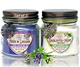 Way Out West 80 Hour Aromatherapy Scented Candles - Stress Relief & Energy - USA Made, Long Burning,...