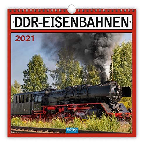 """Technikkalender \""""DDR-Eisenbahn\"""" 2021: 30 x 30 cm, mit Bildern und Texten von Jan & Patrick Welkerling"""