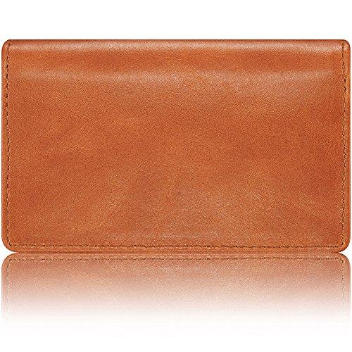 KAVAJ Business Card Holder Leather CaseSingapore Cognac