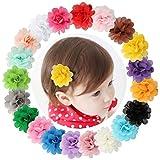 20 horquillas de pelo de la marca Dooppa, con gasa de flores, para bebé y niñas cabello