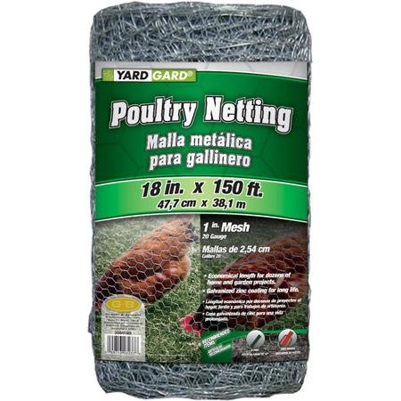G&B Mat 308419B 18 in x 150' 1 in Mesh Hexagonal Poultry Netting