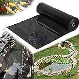 ZYFA Teichfolie HDPE schwarz Gartenteichfolie Gartenpoolmembran Teich Folie Schwimmteich für Garten,UV und witterungsbeständig,Stärken 0.2 mm