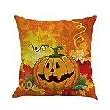 Go First Halloween Kissenbezüge Pumpkin Smiley Face Dekokissen mit verstecktem Reißverschluss für...