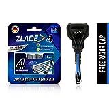 Zlade 4 Blade Shaving Razor For Men With SafeEdge Technology - Titanium