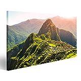 Bild Bilder auf Leinwand Alte Inka-Stadt Machu Picchu,