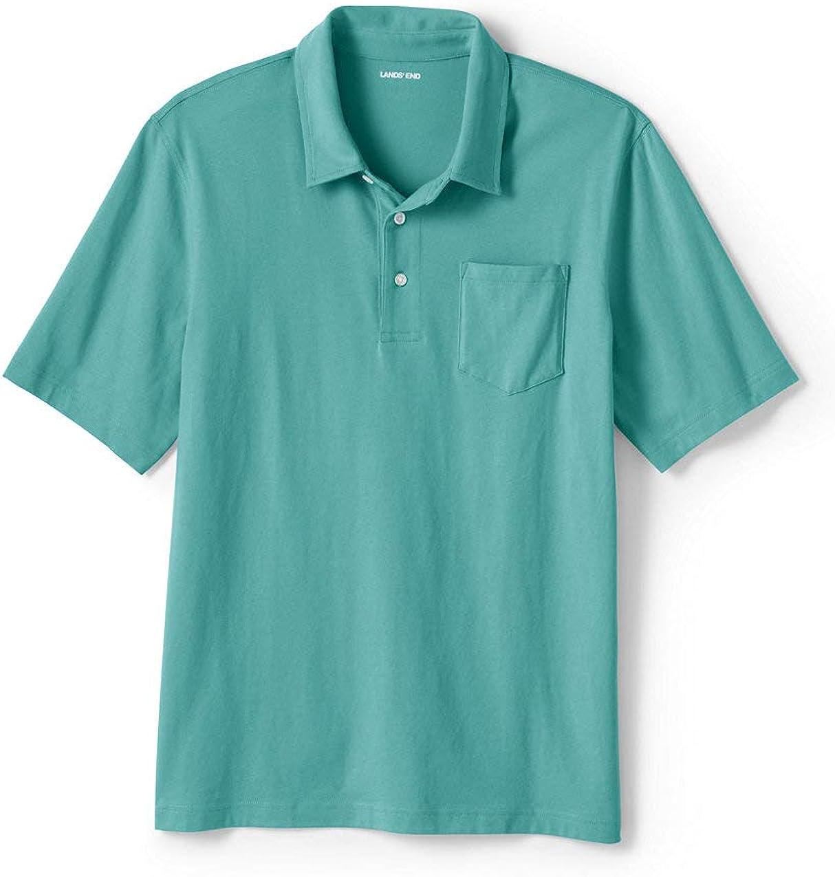 Lands' End Men's Super-T Short Sleeve Polo Shirt