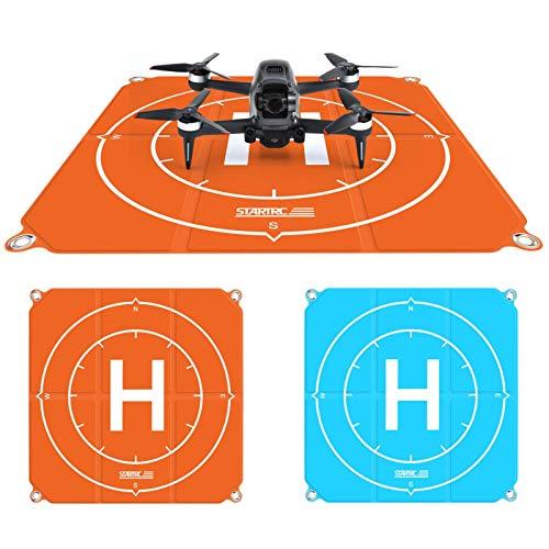 Peaches Stores Drone Landing Pad 50 cm (19 pulgadas) Universal Pro Fast-Fold de doble cara impermeable para DJI Mavic Mini 2 / Mavic Air 2 / Mavic 2 Pro / Zoom / FIMI X8SE