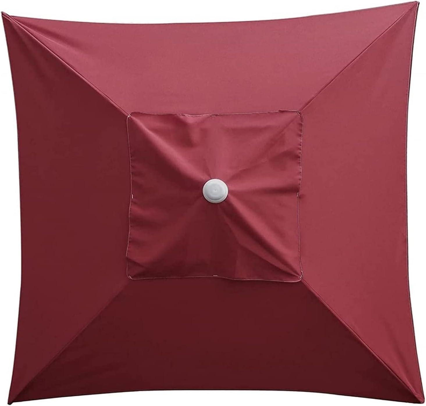 Cubierta del toldo de la sombrilla del jardín, tapa de reemplazo del parasol de sol parasol, tops de paraguas del patio del mercado con 2 * 2m 4 costillas para la piscina de patio de césped al aire li