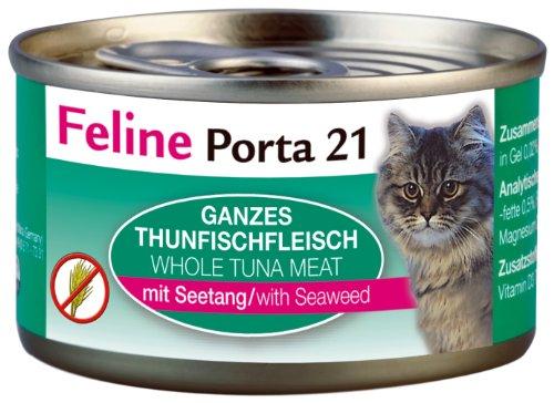 Feline Porta Katzenfutter Feline Porta 21 Thunfisch plus Seetang 90 g, 12er Pack (12 x 90 g)
