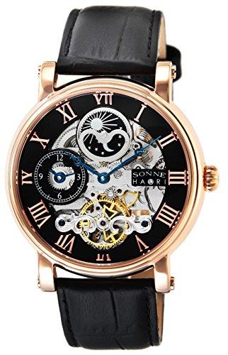 [ゾンネ] 腕時計 SONNNE×HAORI PRODUCED ブラック文字盤 自動巻 H013PG ブラック