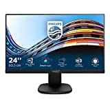 Philips 243S7EYMB Monitor 24' LED IPS, Full HD, 3 Side Frameless, Regolabile in Altezza, Girevole, Pivot, Inclinabile, Casse Audio Integrate, Softblue Protezione Occhi, Display Port, VGA, Vesa, Nero