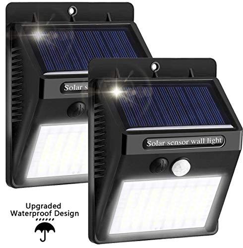 Solar Auffahrtlicht Outdoor Wasserdicht Bewegungsmelder Lichter Wireless Solar Lights Outdoor für Garten Zaun Hof Terrasse Weg Auffahrt (2 Stück)