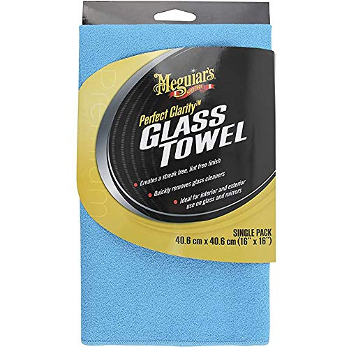 Meguiar's X190301EU Perfect Clarity Glass Towel - Glasreinigungstuch, blau