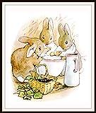 Beatrix Potter Flopsy Bunnies, Vintage Art Print, Nursery, Baby Room, Shower Gift 8 x 10