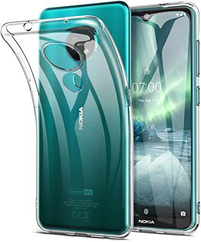 QULLOO für Nokia 7.2 Hülle Cover TPU Hülle Schutzhülle Crystal Case Durchsichtig Klar Silikon Transparent für Nokia 7.2