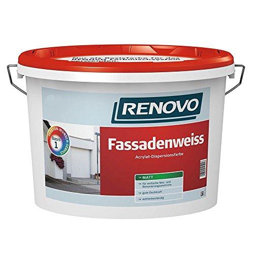 Fassadenweiss Acrylat weiß 5 L matt Fassadenfarbe Renovo