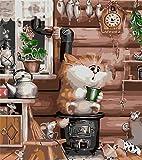 Pintura por Número De Kit, DIY Pintura Al Óleo Dibujo ,Decoración De Navidad Decoraciones Regalos-Serie De Gatos Gfd3 Sin Marco- 16 * 20 Pulgadas